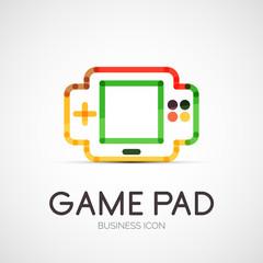 Gamepad company logo, business concept