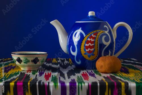 Muslim still life with tea.