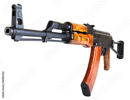 Poster ak 47  isolated on white