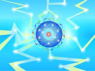 bubble lightning blue idea