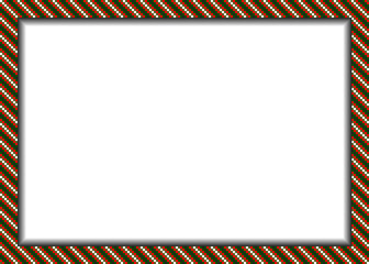 Pixel styled border (frame) in christmas colors