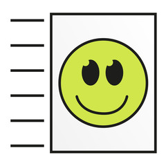 Isolated colorful icon for send or upload file
