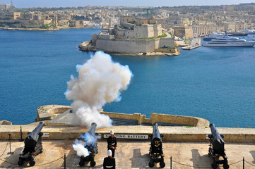 Old guns of Valletta, Malta