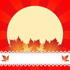 Autumn greeting frame