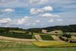 canvas print picture - Landwirtschaftliche Landschaft