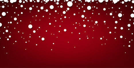 Snow red abstract background.