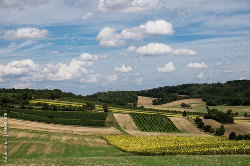 canvas print picture Landwirtschaftliche Landschaft