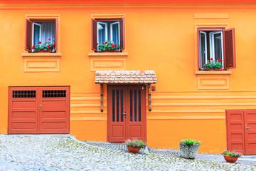 facade of a historic building