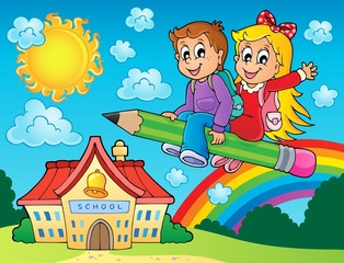 School kids theme image 7