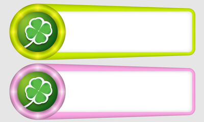 green and purple frames for any text with cloverleaf