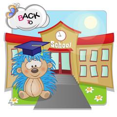 Hedgehog and school