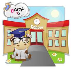 Cow and school