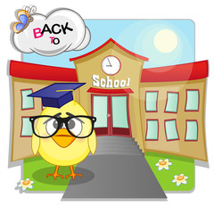 Chicken and school
