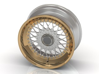 The gold rims