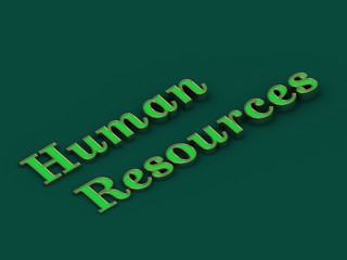 Human resources - inscription of golden letters