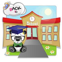 Panda and school