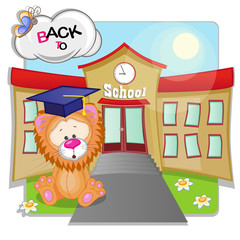 Lion and school