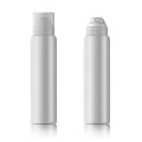 Fototapety White metal bottle
