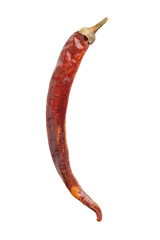 red hot dry pepper isolated on white background