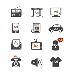 Advertisement vector icons