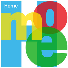 HOME Letter Collage (icon welcome website page)
