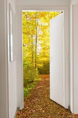 Herbsttür - Autumn door