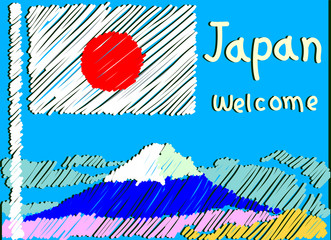 welcome to japan postcard