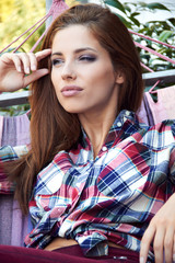 Beautiful young woman relaxes