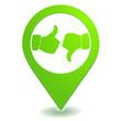 avis sur symbole localisation vert