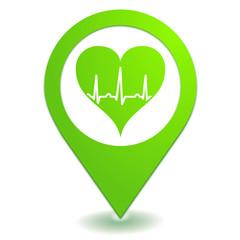 cardiologue sur symbole localisation vert