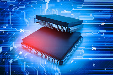Electronic integrated circuit chip