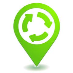 rond point sur symbole localisation vert