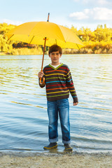 Boy in rainboots