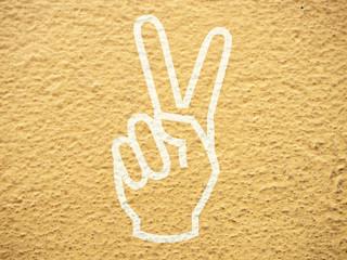 Grunge concrete hand