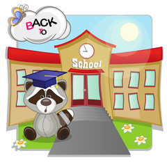 Raccoon and school
