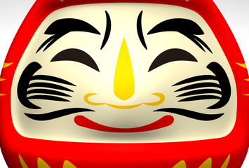 Face Of Smile Daruma Doll