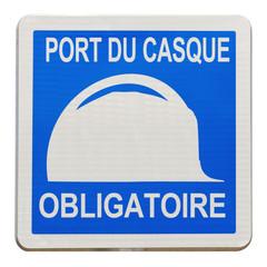panneau port du casque  de chantier obligatoire