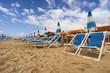Versilia beach. Tuscany, Italy