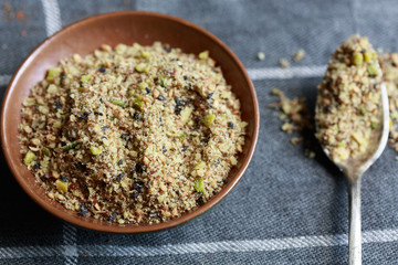 Dukkah (a nut and spice mixture) from Egypt