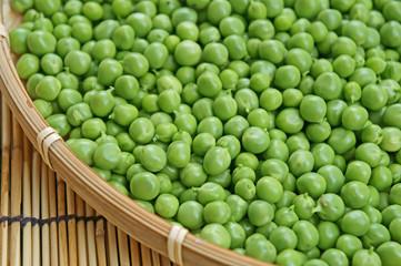 グリーンピース収穫