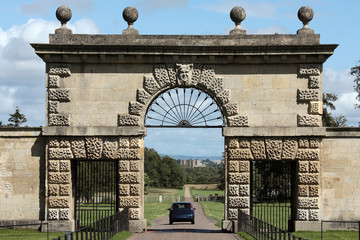 Entrance to Studley Royal Park looking back towards Ripon Cathed