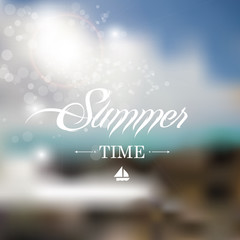 Summer background with blurry effect