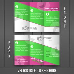 Tri-fold business store brochure template, cover design