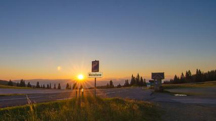 Sonnenuntergang Weinebene Steiermark