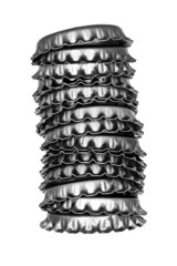 A tower of bottle cap