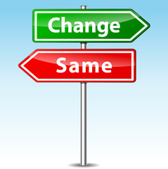 Vector change and same direction sign