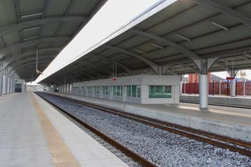Empty railway station horizontal
