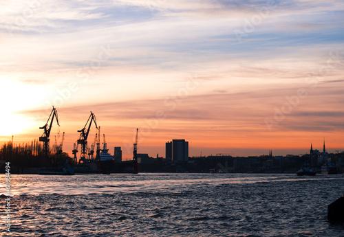 canvas print picture Hafen in Hamburg