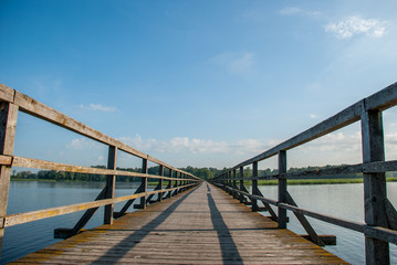 long bridge over the lake