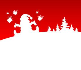 Hintergrund Weihnachtsmann Bäume